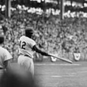 Jackie Robinson At 1955 World Series Poster