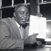 Jackie Robinson Retires 1957 Poster
