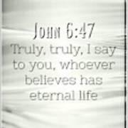 John 6 47 Poster