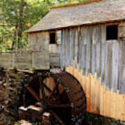 John Cable Mill In Cades Cove Historic Area In Smoky Mountains Poster