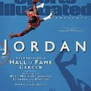 Jordan Celebrating A Hall Of Fame Career Sports Illustrated Cover Poster