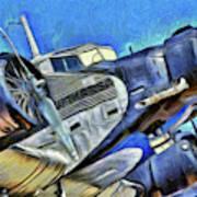 Junkers Ju 52 Art Poster