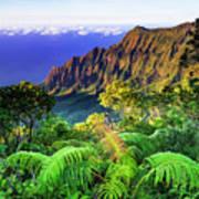Kalalau Valley And The Na Pali Coast Poster