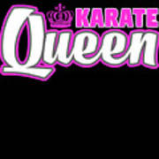 Karate Queen Cute Martial Arts Training Poster