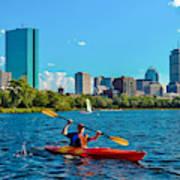 Kayaking On The Charles Poster