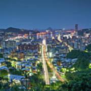Keelung City Skyline Poster