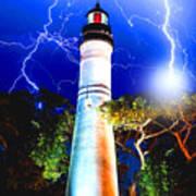 Key West Lightning Light House Poster