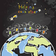Kids Helping Each Other, Global Poster