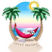 Kiniart Tropical Bichon Frise Poster