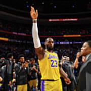 Kobe Bryant And Lebron James Poster
