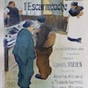 L Escarmouche, 1893 French Vintage Poster Poster