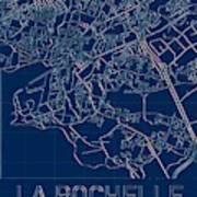 La Rochelle Blueprint City Map Poster