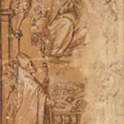 La Virgen En Gloria Apareciendose A Varios Santos  Poster
