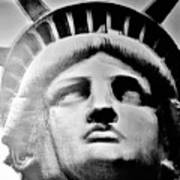 Lady Liberty In Black And White1 Poster