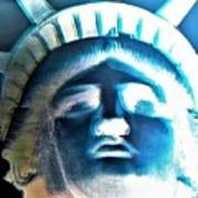 Lady Liberty In Negative Poster