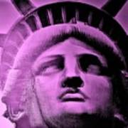 Lady Liberty In Pink Poster