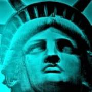 Lady Liberty In Turquoise Poster