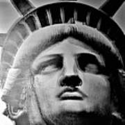 Lady Liberty Red White And Blue Poster