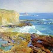 Laguna Rocks Low Tide 1916 Poster