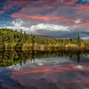 Lake Bodgynydd Sunset Poster