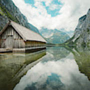 Lake Obersee Boat House Poster