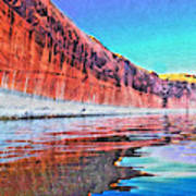 Lake Powell With Cliff Reflections Poster