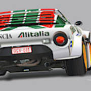 Lancia Stratos Rear Poster