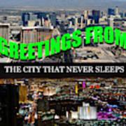 Las Vegas The City That Never Sleeps Custom Pc Poster