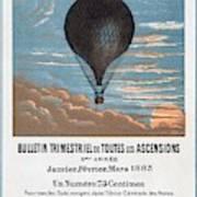 Le Ballon Aeronautical Journal, 1883 French Poster Poster
