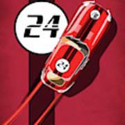 Le Mans Jag Poster