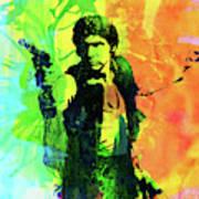 Legendary Han Solo Watercolor Poster
