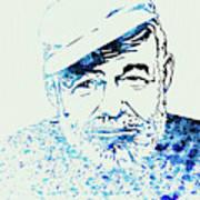 Legendary Hemingway Watercolor Poster
