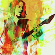 Legendary Kirk Hammett Watercolor Poster