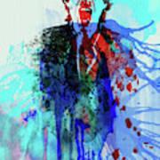 Legendary Mick Jagger Watercolor Poster