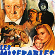 Les Miserables 1958 French Movie Classic Poster