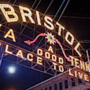 Lighting Up The Bristol Sign Poster