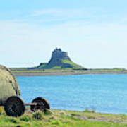 Lindisfarne Castle And Bay Poster