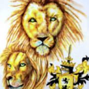 Lions Roark Crest Poster