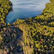 Litte Traverse Lake Vertical Panorama Poster