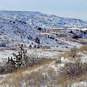 Little Missouri Winter Prairie Poster