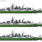 Littorio Class Battleships Port Side Poster