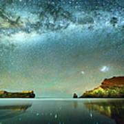 Long Exposure Of Stars Poster