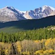 Longs Peak In The Fall Poster
