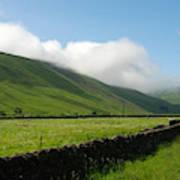 looking down Ettrick valley in Selkirkshire in summer Poster