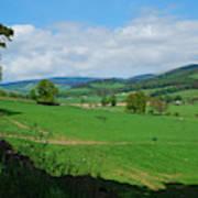 looking westwards in Tweed valley Poster