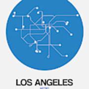 San Francisco Blue Subway Map Poster