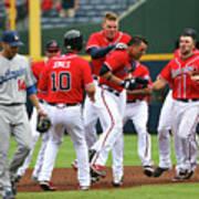 Los Angeles Dodgers V Atlanta Braves Poster