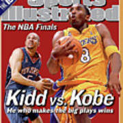 Los Angeles Lakers Kobe Bryant And New Jersey Nets Jason Sports Illustrated Cover Poster