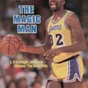 Los Angeles Lakers Magic Johnson, 1985 Nba Western Sports Illustrated Cover Poster
