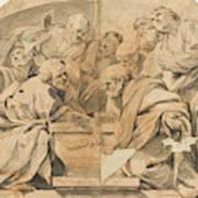 Los Apostoles Ante El Sepulcro Vacio De La Virgen  Poster